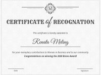Vintage Certificate Of Recognition Template Template – Venngage pertaining to Template For Certificate Of Award