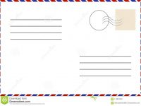 Vintage Postcard. Old Template. Retro Airmail Envelope With Stamp throughout Airmail Postcard Template