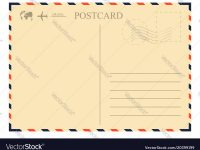 Vintage Postcard Template Retro Airmail Envelope inside Airmail Postcard Template