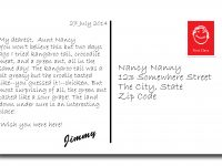 Write A Postcard | Hp | Postcard Format, Postcard Examples, Creative in Wish You Were Here Postcard Template