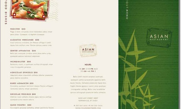 12+ Best Chinese Food Restaurant Menu Templates inside Asian Restaurant Menu Template
