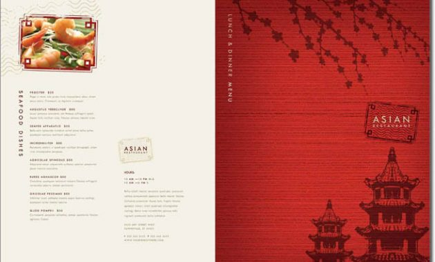 12+ Best Chinese Food Restaurant Menu Templates pertaining to Asian Restaurant Menu Template