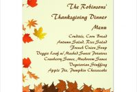 25+ Thanksgiving Menu Templates – Free Sample, Example within Thanksgiving Day Menu Template