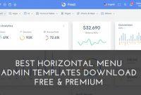30+ Best Horizontal Menu Admin Templates Download Free within Horizontal Menu Templates Free Download