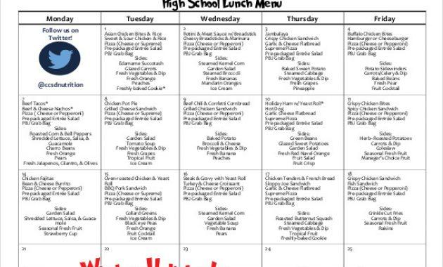 32+ School Menu Templates – Psd, Pdf, Word, Ai | Free within Free School Lunch Menu Templates