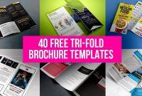 40 Free Tri-Fold Brochure Templatesgraphicsfuel (Rafi inside Tri Fold Menu Template Photoshop