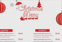 41+ Sample Christmas Menu Templates - Word, Psd, Ai   Free intended for Christmas Day Menu Template