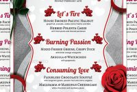 41+ Valentines Menu Templates - Free Psd, Eps Format throughout Free Valentine Menu Templates