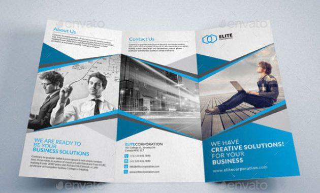 45 Best Psd Tri-Fold Brochure Templates | Pixel Curse pertaining to Tri Fold Menu Template Photoshop