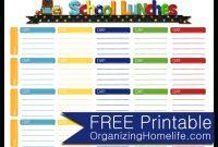 7 Best Images Of School Menu Template Printable – School intended for Free School Lunch Menu Templates