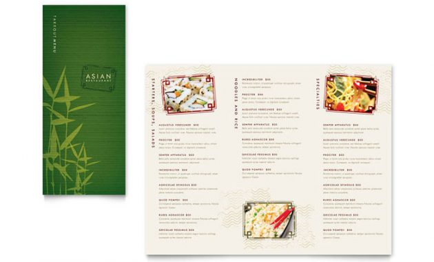Asian Restaurant Menu Template Design throughout Asian Restaurant Menu Template