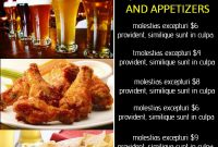 Bar Happy Hour Menu. Click To Customize. | Happy Hour Menu inside Happy Hour Menu Template