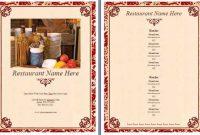 Bistro Restaurant Menu Template | Menu Template Word, Menu in Free Restaurant Menu Templates For Microsoft Word