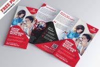Business Tri-Fold Brochure Template Design Psd | Psdfreebies inside Tri Fold Menu Template Photoshop
