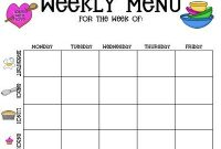 Childcare Menu Plan Template | Created With The Childcare regarding Daycare Menu Template