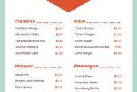 Customize 58+ Diner Menus Templates Online - Canva inside Diner Menu Template