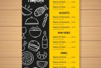 Fast Food Menu Template | Free Vector within Fast Food Menu Design Templates