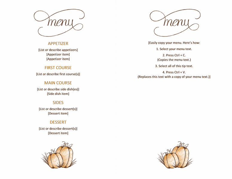 Free Downloadable Printable :)Thanksgiving Menu - Templates In Thanksgiving Day Menu Template