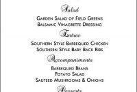 Free Printable Menu Templates And More! | Wedding Menu within Free Printable Dinner Menu Template