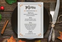 Free Printable Thanksgiving Menu | Mountainmodernlife throughout Thanksgiving Day Menu Template