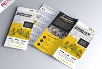 Free Psd : Multipurpose Tri-Fold Brochure Psd Template pertaining to Tri Fold Menu Template Photoshop