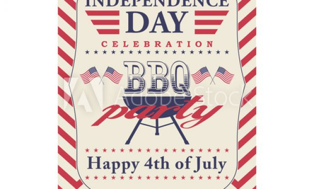 Happy 4Th Of July Bbq Grill Poster. Template For Fourth Of inside 4Th Of July Menu Template