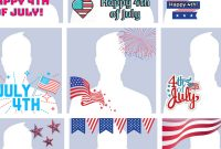 How To Make A 4Th Of July Profile Picture | Postcard For 4Th Of July Menu Template