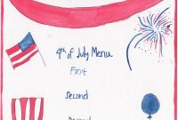 How To Throw A Fire-Cracking Fourth Of July Fête | Fourth Of intended for 4Th Of July Menu Template