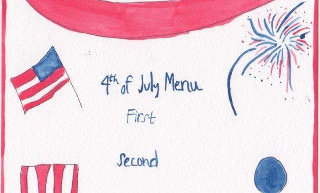 How To Throw A Fire Cracking Fourth Of July Fête | Fourth Of Intended For 4Th Of July Menu Template