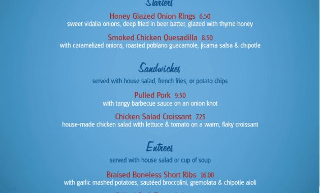 July 4Th Celebration Specials Menu | Design Templates throughout 4Th Of July Menu Template
