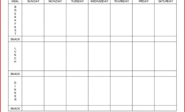 Meal Planning Calendar Template Plan Day Menu Planner pertaining to 7 Day Menu Planner Template