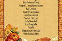 Menu Templates Free Download Thanksgiving | Thanksgiving throughout Thanksgiving Day Menu Template