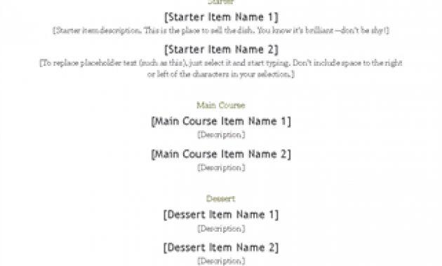Menus – Office for Free Restaurant Menu Templates For Microsoft Word