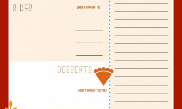 Pin On Printables regarding Thanksgiving Day Menu Template