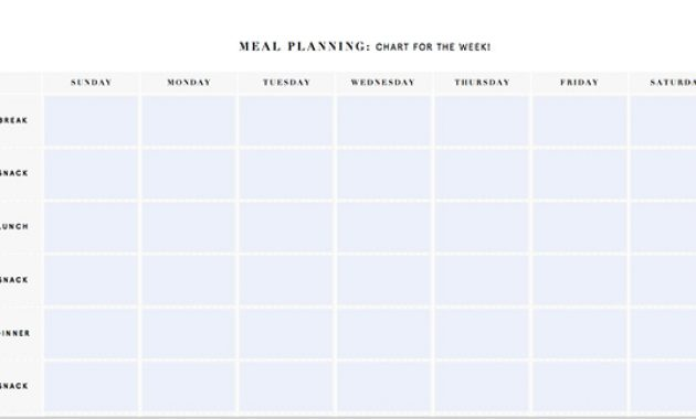 Printable Meal Planning Templates To Simplify Your Life in 7 Day Menu Planner Template