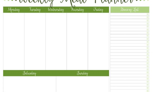 Printable Weekly Meal Planners – Free | Live Craft Eat throughout 7 Day Menu Planner Template