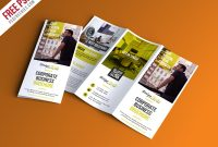 Professional Trifold Brochure Psd Template – Uxfree within Tri Fold Menu Template Photoshop