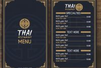 Thai Menu Template | Free Vector in Asian Restaurant Menu Template