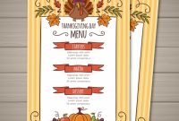 Thanksgiving Menu Template – Nohat within Thanksgiving Day Menu Template