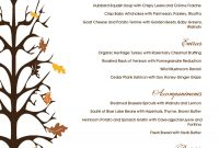 Traditional Thanksgiving Menu | Design Templates within Thanksgiving Day Menu Template