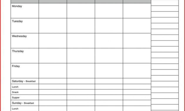 Why Everybody Is Dead Wrong About Day Meal Planner And Why intended for 7 Day Menu Planner Template