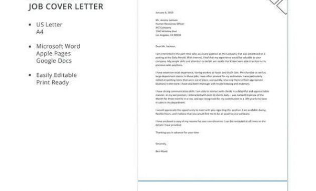 11+ Part-Time Job Cover Letter Templates – Free Sample with Google Cover Letter Template