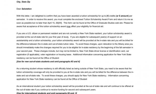 15+ Best Award Letter Templates & Samples (And Guidelines) throughout Scholarship Award Letter Template