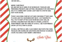 15 Free Printable Letters From Santa Templates (With Images for Free Printable Letter From Santa Template