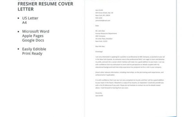 17+ Professional Cover Letter Templates – Free Sample within Google Cover Letter Template