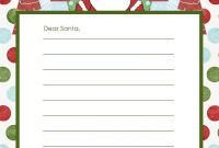 20 Free Printable Letters To Santa Templates – Spaceships Within Christmas Letter Templates Free Printable