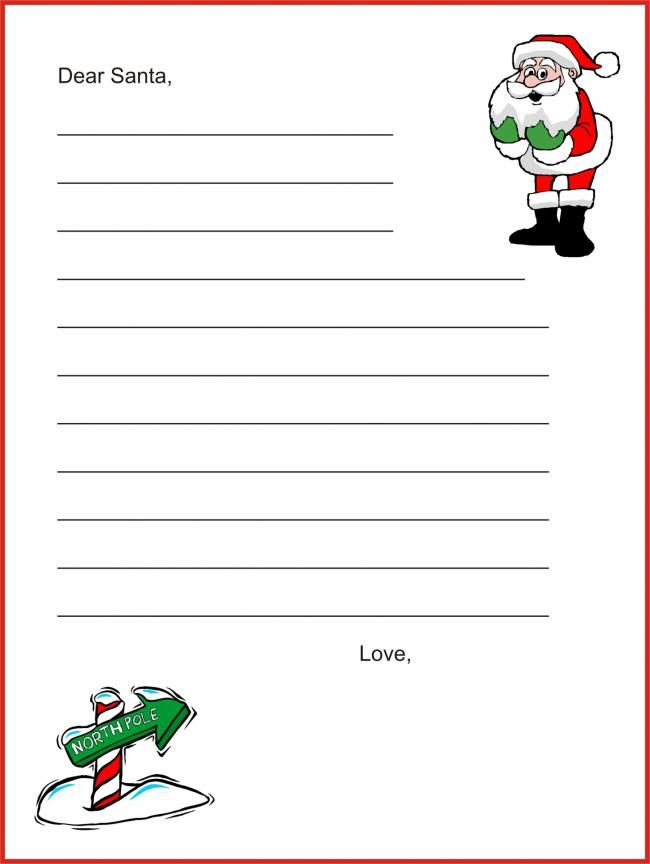 20 Free Printable Letters To Santa Templates (With Images Intended For Free Printable Letter From Santa Template