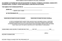 25+ Notarized Letter Templates & Samples (Writing Guidelines) inside Notarized Letter Template For Child Travel