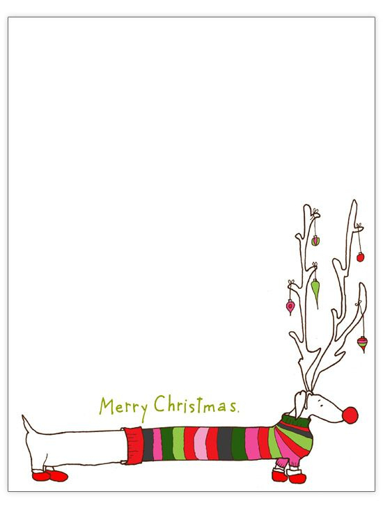 33 Free Templates To Help You Send Holiday Cheer (Mit With Christmas Letter Templates Free Printable