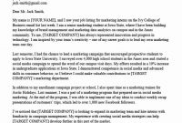 40 Cover Letter Template For Internship | Marketing Cover with Internship Cover Letter Template